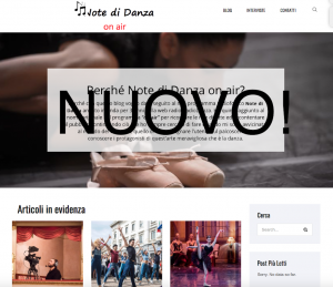 Note di Danza on air cambia volto!